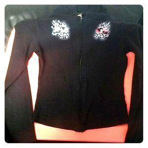 Black Jacket with Angel/Devil Birds